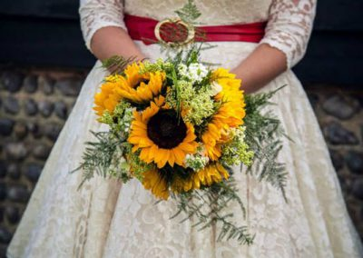 sunflower bride bouquet